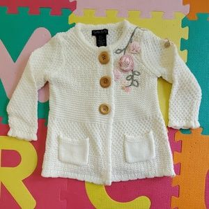 Cynthia Rowley girls embroidered sweater, 18 mo